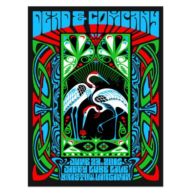 Grateful Dead Bristow, VA Exclusive Event Poster