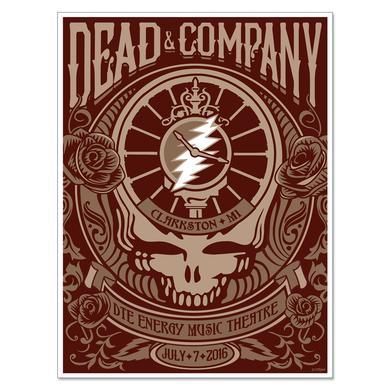 Grateful Dead Clarkston, Michigan Exclusive Event Poster