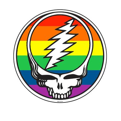 Grateful Dead Charity Item - Rainbow Stealie Sticker