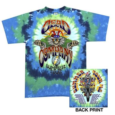 Grateful Dead Tie-Dye Motorcycle Tee