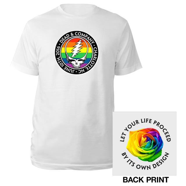 Grateful Dead Rainbow Stealie Charlotte Event Tee for Chartiy