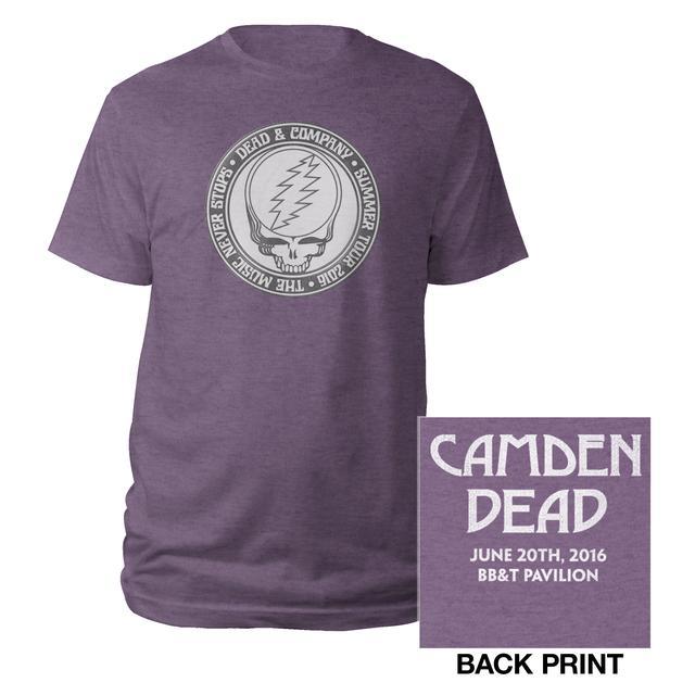 Grateful Dead Camden, NJ Stealie Event Tee