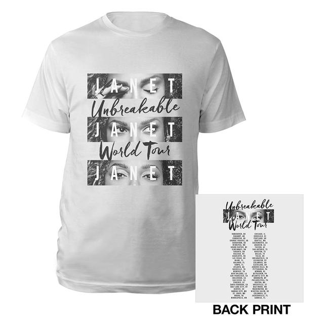 Janet Jackson Unbreakable World Tour T-Shirt + CD