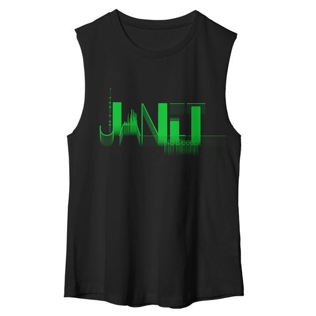 Janet Jackson No Sleep Muscle T-Shirt + CD