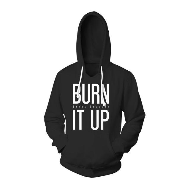 Janet Jackson Burn It Up Hoodie + CD