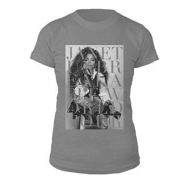 Janet Jackson Unbreakable Portrait Juniors T-shirt