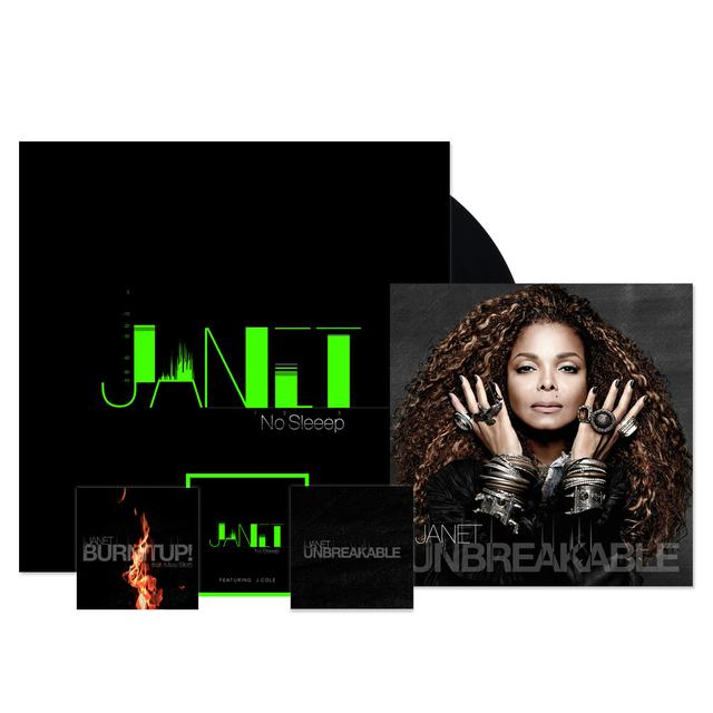 "Janet Jackson CD + ""No Sleeep"" Vinyl Single + 3 Instant Downloads"
