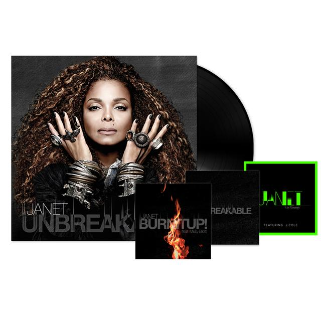 Janet Jackson Unbreakable LP + 3 Instant Downloads