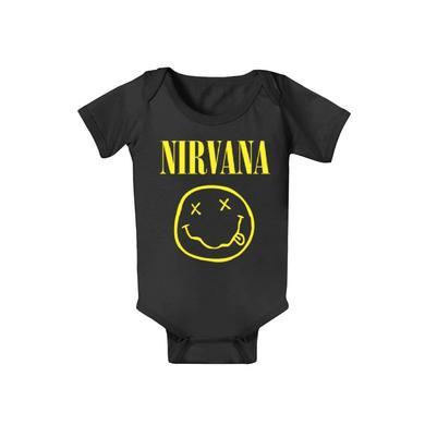 """Nirvana """"Baby Smile"""" Baby Onesie"""