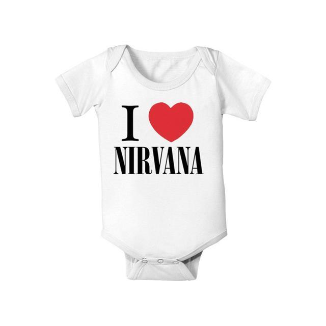 """I Love Nirvana"" Baby Onesie"