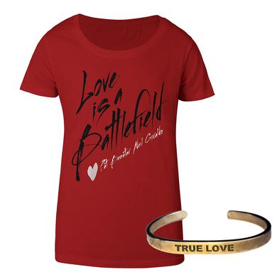 Pat Benatar Ladies Battlefield Tee & True Love braceletWas:59.95