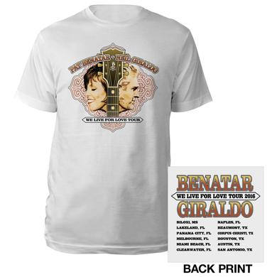 Pat Benatar We Live For Love Tour Tee