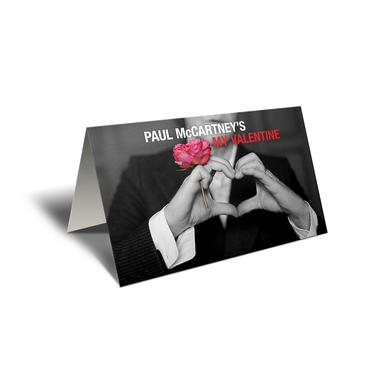 Paul McCartney My Valentine Greeting Card