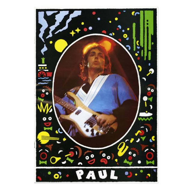 Paul Mccartney 1979 Wings UK Tour Programme Cover Lithograph