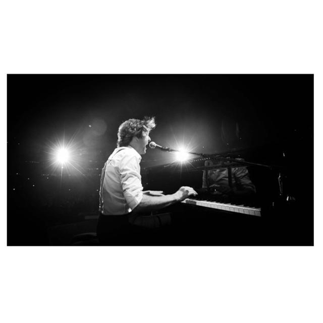 Paul McCartney Piano B&W Lithograph