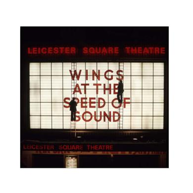 Paul Mccartney Wings at the Speed of Sound Marquee, London Lithograph