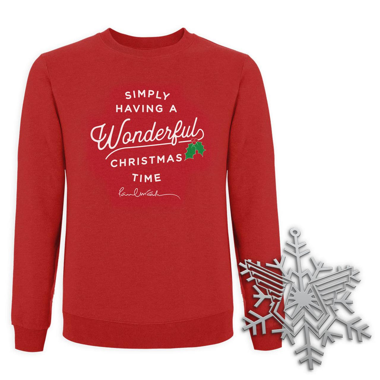 paul mccartney wonderful christmas time sweatshirt and ornament bundle tap to expand - Simply Having A Wonderful Christmas Time