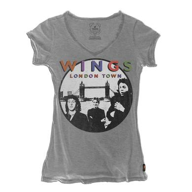Paul McCartney Trunk Wings London Town V-Neck Tee