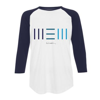 Paul Mccartney 'New' Unisex Raglan Navy Tee
