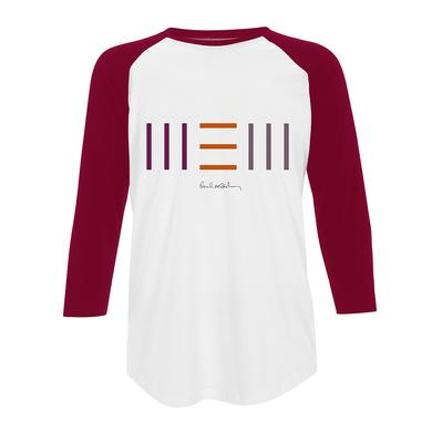 Paul Mccartney 'New' Unisex Raglan Red Tee