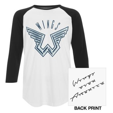 Paul McCartney 'Wings Over America' Unisex Raglan Tee