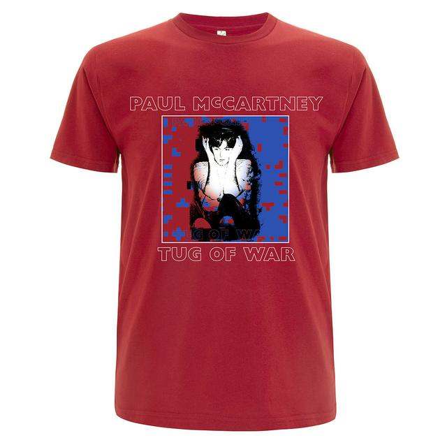 Paul Mccartney Tug of War Red T-shirt