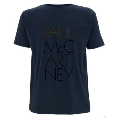 Paul McCartney 'Pure McCartney' Mens Navy T-shirt