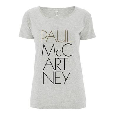 Paul McCartney 'Pure McCartney' Ladies Grey T-shirt