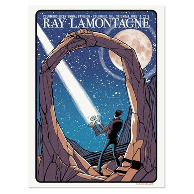 Ray Lamontagne The Ouroboros Tour 2016 - Columbus, OH Poster