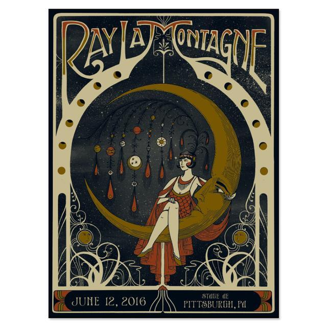 Ray Lamontagne The Ouroboros Tour 2016 - Pittsburgh, PA Poster
