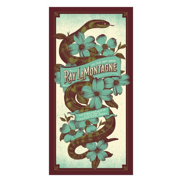Ray Lamontagne The Ouroboros Tour 2016 - Cleveland, OH Poster