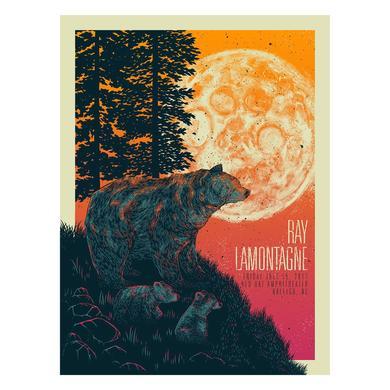 Ray Lamontagne The Ouroboros Tour 2016 - Raleigh, NC Poster