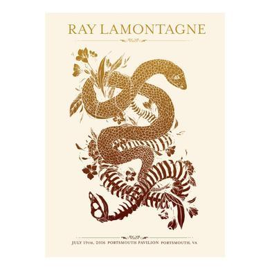 Ray Lamontagne The Ouroboros Tour 2016 - Portsmouth, VA Poster