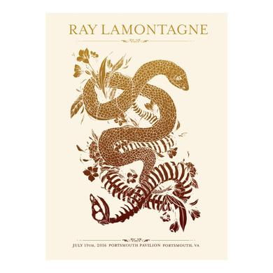 Ray Lamontagne The Ouroboros Tour 2016 - Portsmouth, VA Poster