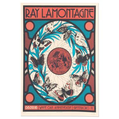 Ray Lamontagne The Ouroboros Tour 2016 - Greensboro, NC Poster