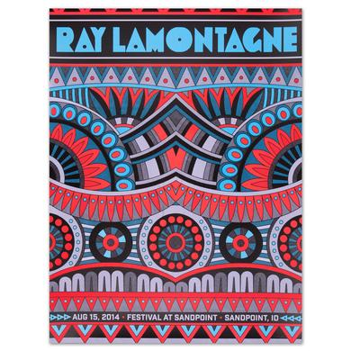 Ray LaMontagne 2014 Sandpoint, ID Event Poster