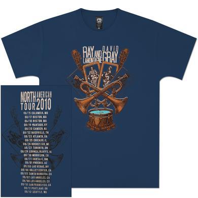 Ray LaMontagne Trumpets & Drums 2010 Blue Unisex Tour Tee
