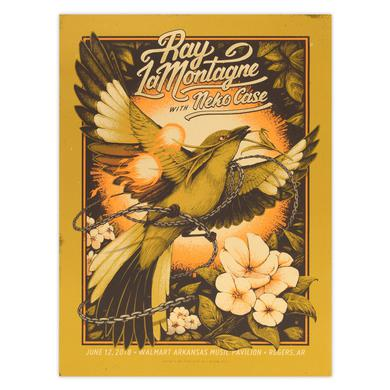 Ray Lamontagne Part Of The Light Tour 2018 - 6/12 Rogers AR Poster