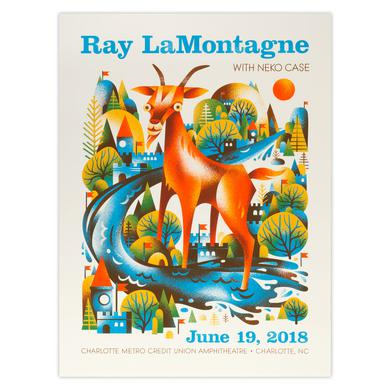 Ray Lamontagne Part Of The Light Tour 2018 - 6/19 Charlotte NC Poster