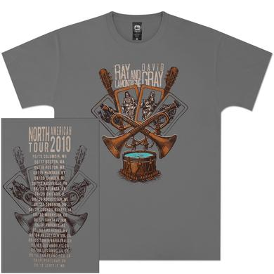 Ray LaMontagne Trumpets & Drums 2010 Light Grey Unisex Tour Tee