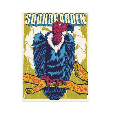 Soundgarden July 19th 2014 Las Vegas Event Poster