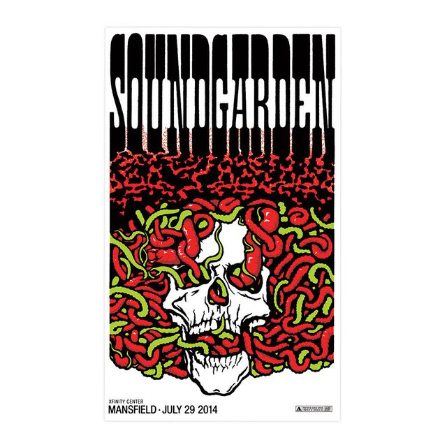 Soundgarden July 29th 2014 Mansfield Event Poster