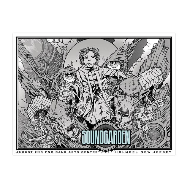 Soundgarden August 2nd 2014 Holmdel Event Poster