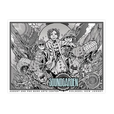 Soundgarden August 2nd 2014 Holmdel Event Poster