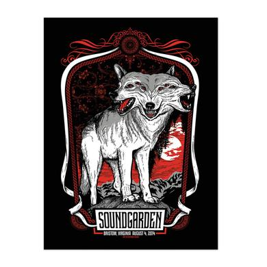 Soundgarden August 4th 2014 Bristow Event Poster
