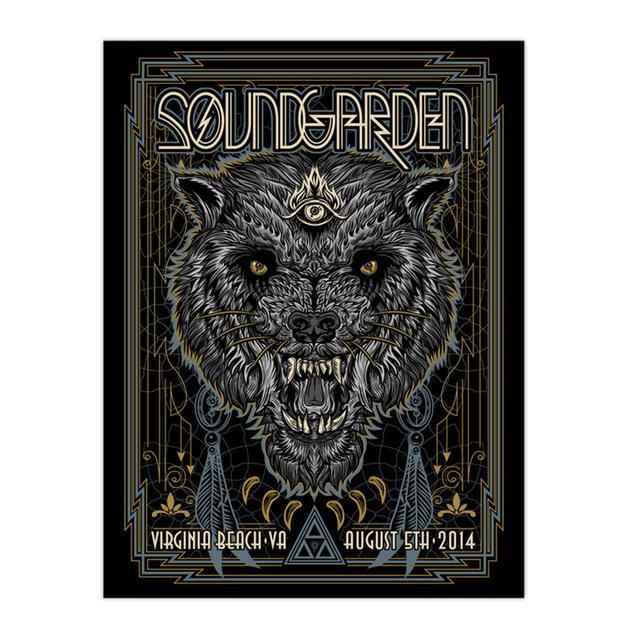Soundgarden August 5th 2014 Virginia Beach Event Poster