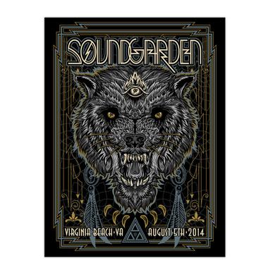 Soundgarden August 5th 2014 Virginia Beach Event Poster