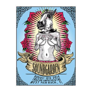 Soundgarden August 10th 2014 West Palm Beach Event Poster