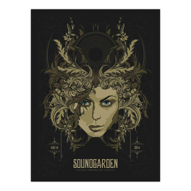 Soundgarden August 14th 2014 Austin Event Poster