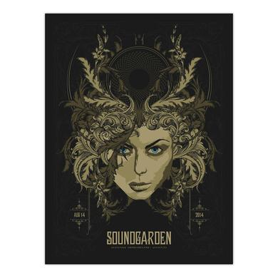 Soundgarden August 14th 2014 Austin Event Poster